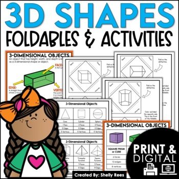 3-Dimensional Shape Foldables Packet: Geometry, Faces, Edg
