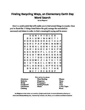 3 Earth Day Puzzles,Saving Gas, Recycling Ways,Unpleasant