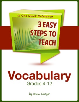 3 Easy Steps to Teach Vocabulary for the Common Core