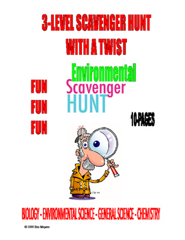 3-LEVEL SCAVENGER HUNT . . . WITH A TWIST . . . 10-PAGES .