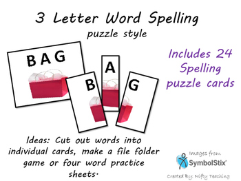 3 Letter Word Spelling-puzzle style