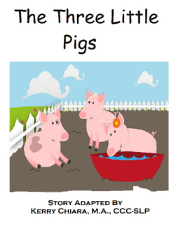 3 Little Pigs Adapted Color Book, Printable BW and Workshe