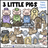 Three Little Pigs Clip Art - Whimsy Workshop Teaching
