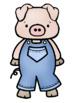 Three Little Pigs Clip Art - Whimsy Workshop Teaching