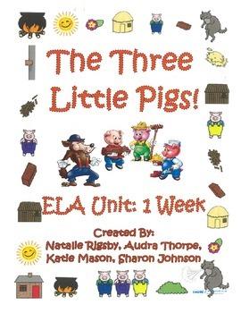 3 Little Pigs, Fractured Fairy Tale, ELA Unit