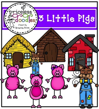 3 Little Pigs (The Price of Teaching Clipart Set)
