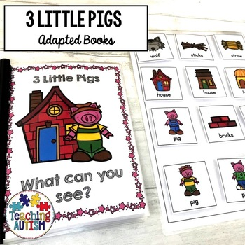 3 Little Pigs Sentence Building Pack, Adapted Books
