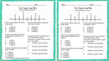 3.MD.B.4 Line Plot Exit Ticket