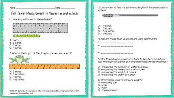 3.MD.B.4 Measurement to Nearest 1/2 and 1/4 Inch