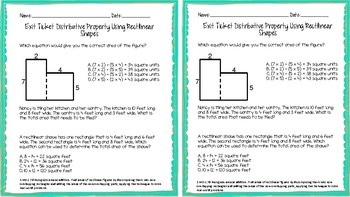 3.MD.C.7d Distributive Property Using Rectilinear Shapes