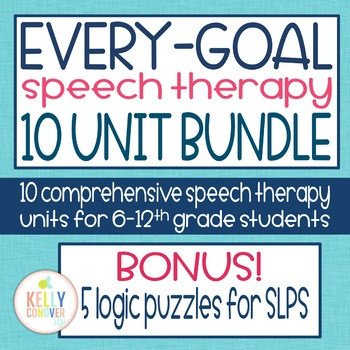Every Goal Speech Therapy Units  GROWING BUNDLE