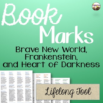 3 Novel Book Marks