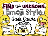 3.OA.4 Find the Unknown Task Cards