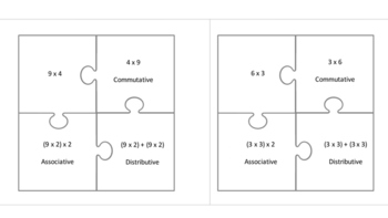 3.OA.5 Properties of Multiplication puzzles