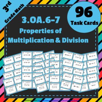 3.OA.6 & 3.OA.7 Task Cards: Properties of Multiplication &