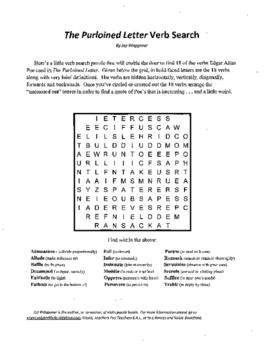 3 Puzzle,Edgar Allan Poe,Purloined Letter,Verb Search,Voca