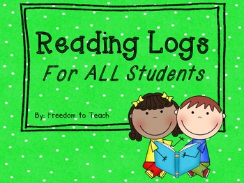 3 READING LOGS for different levels of readers & bookmark~FREEBIE