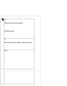 3 Reads Math Strategy Interactive Notebook Freebie