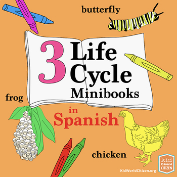 3 Science Life Cycle Minibooks: Frog, Butterfly, Chicken ~