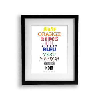 3 Set of Language Color Posters French Spanish English Col