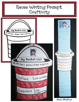 "3 Seuss -Themed Writing Prompt Craftivities For ""Oh The Pl"