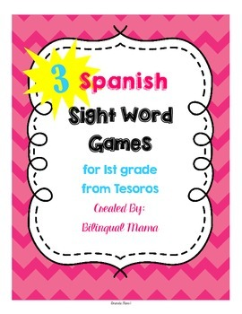 3 Spanish Sight Word Fluency Games