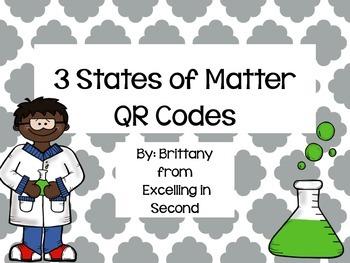 3 States of Matter QR Codes