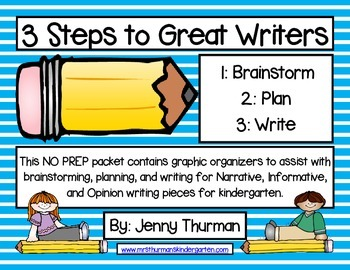 3 Steps to Great Writers for Kindergarten