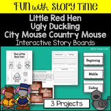 3 Storyboard Craftivities - Little Red Hen, Ugly Duckling,