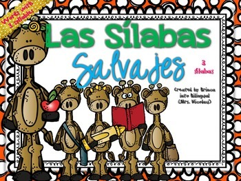 3 Syllables Unit in SPANISH - Unidad de 3 silabas Grades PK-2