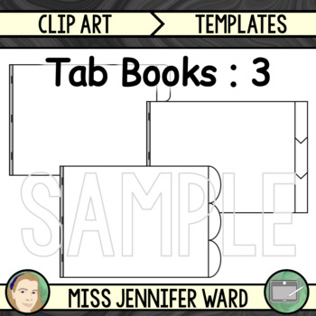 3 Tab Book Vertical Style Clipart