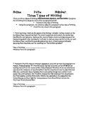 3 Types of Writing Informational, Opinion, Narrative Parag