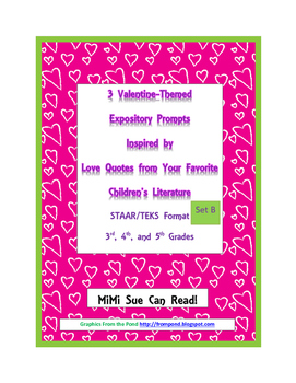 3 Valentine-Themed Expository Prompts Children's Books Set