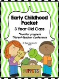 3 Year Old Preschool Parent-Teacher Packet