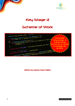 3 Year Scheme of Work for teaching Computer Science in Mid