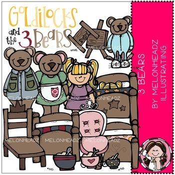 Melonheadz: 3 Bears clip art - Combo Pack