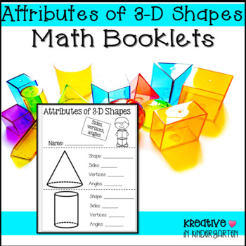 3-d Shape Attribute Booklet