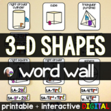 3-d Shapes Posters {pyramid, cone, cylinder, sphere}