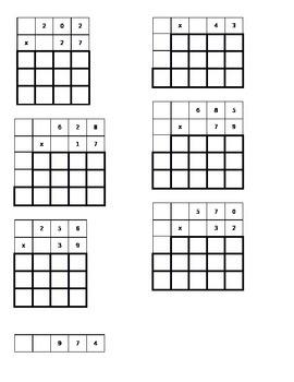 3- digit by 2-digit multiplication