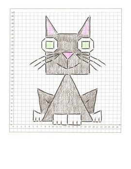 Halloween Coordinate Graphing Pictures: Cat,  Bat, & Owl: