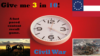 Give Me 3 in 10 Civil War Game
