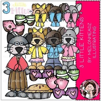 Melonheadz: 3 Little Kittens clip art - Combo Pack