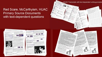 3-pack Red Scare Primary Source Bundle (2 HAUC transcripts
