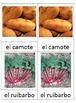 3 part Montessori cards in SPANISH - Verduras parte 2