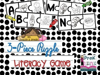 3-piece Early Literacy Puzzle {{Gen&Sis}}