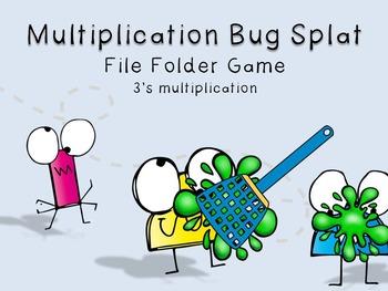 3's Multiplication Bug File Folder Game