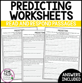 4 x Predicting Worksheets - 12 passages with questions for