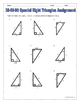 Right Triangles - 30 60 90 Special Right Triangles Notes a