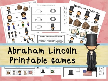 30 Abraham Lincoln Games Download. Games and Activities in