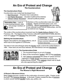30 - An Era of Protest & Change - Scaffold/Guided Notes (F